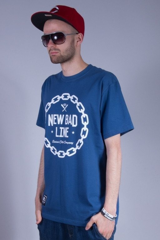 NEW BAD LINE KOSZULKA CHAIN NAVY BLUE