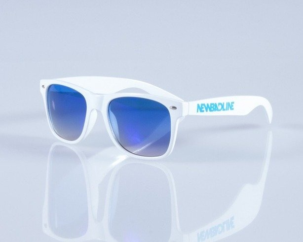 NEW BAD LINE OKULARY CLASSIC WHITE-BLUE MIRROR 122