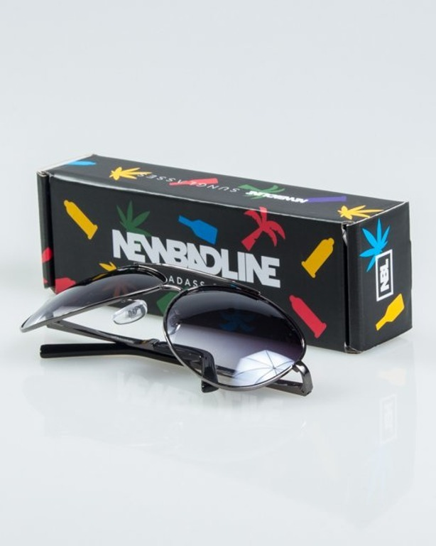 NEW BAD LINE OKULARY METALIC METAL FLASH 1171