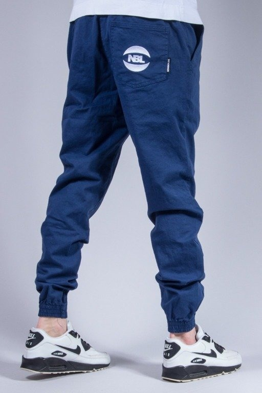 NEW BAD LINE SPODNIE CHINO JOGGER BLUE