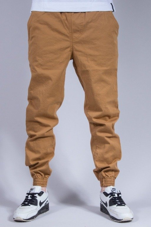 NEW BAD LINE SPODNIE CHINO JOGGER CAMEL