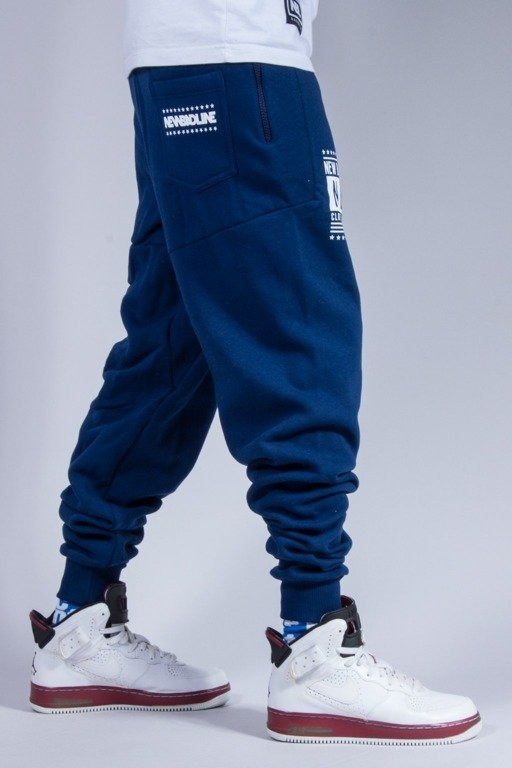 NEW BAD LINE SPODNIE DRESOWE SWAG LOW NAVY