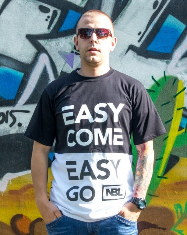 NEW BAD LINE T-SHIRT EASY COME BLACK-WHITE