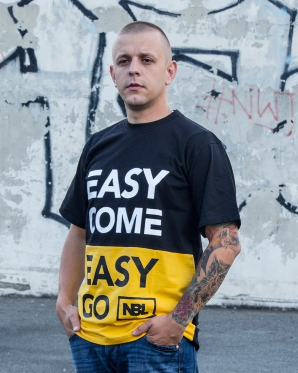 NEW BAD LINE T-SHIRT EASY COME NEW BLACK-YELLOW