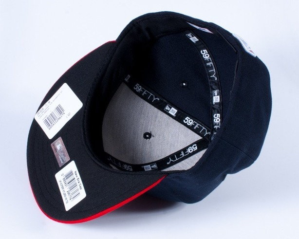NEW ERA CZAPKA FULL CAP AUTHENTIC ATLANTA NAVY-RED