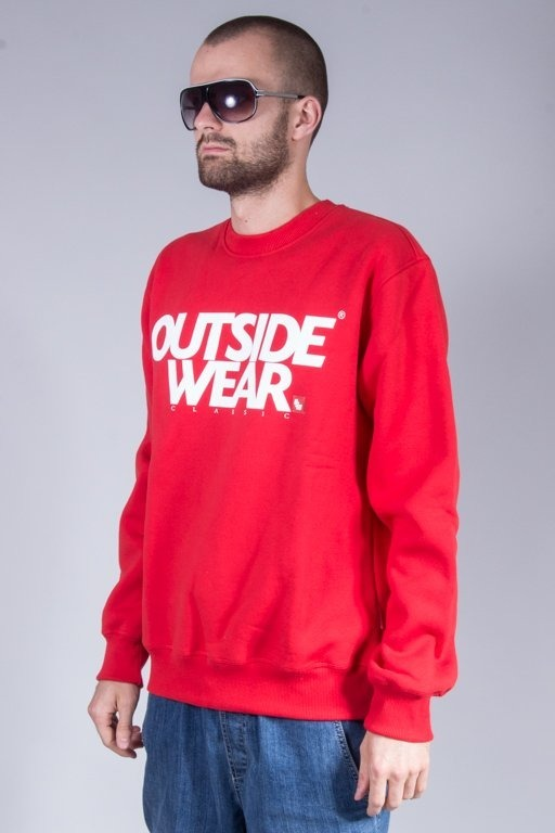 OUTSIDEWEAR CREWNECK CLASSIC RED