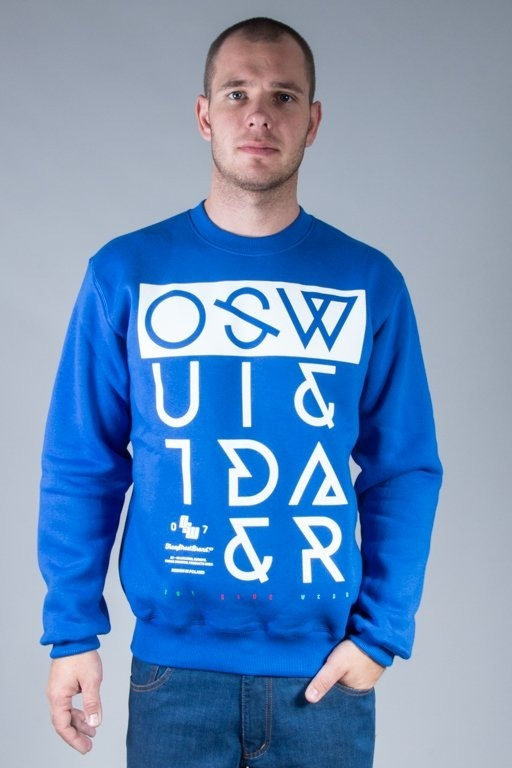 OUTSIDEWEAR CREWNECK CROOKED BLUE