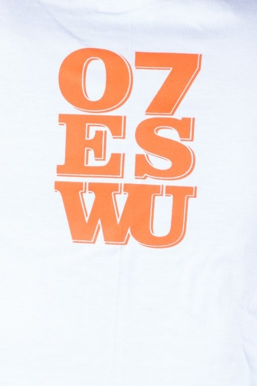 OUTSIDEWEAR T-SHIRT 07ESWU WHITE-ORANGE