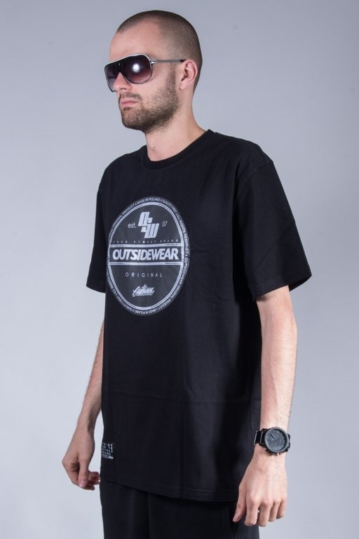 OUTSIDEWEAR T-SHIRT STICKER BLACK