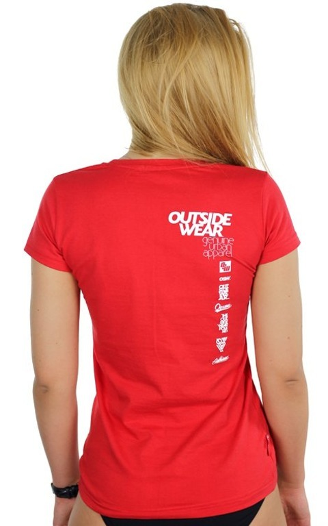 OUTSIDEWEAR T-SHIRT WOMAN CLASSIC RED