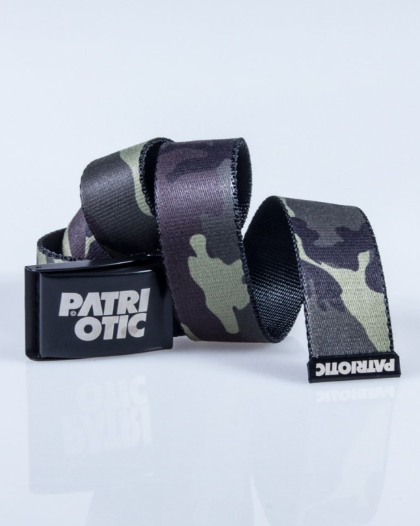 PATRIOTIC BELT CLS WOODLAND CAMO