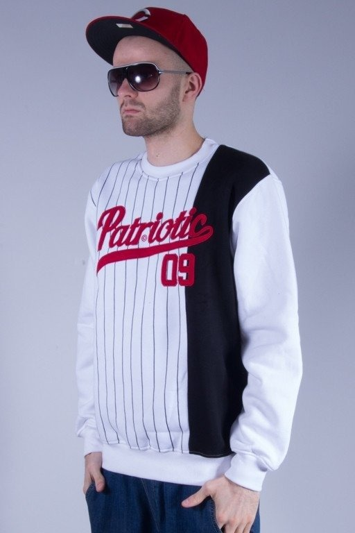 PATRIOTIC BLUZA BEZ KAPTURA ATHLETIC WHITE-BLACK