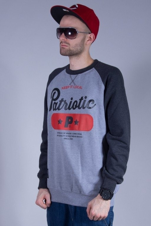 PATRIOTIC BLUZA BEZ KAPTURA BASE MELANGE-GREY
