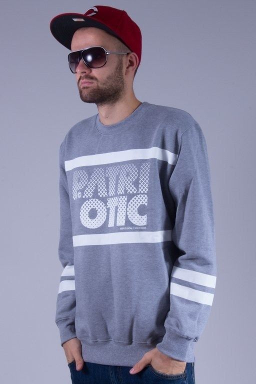 PATRIOTIC BLUZA BEZ KAPTURA PARTICLES GREY