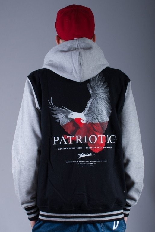 PATRIOTIC BLUZA Z KAPTUREM ZIP EAGLE BLACK