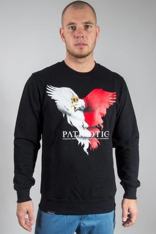 PATRIOTIC CREWNECK EAGLE BLACK