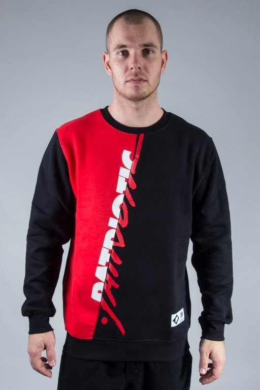 PATRIOTIC CREWNECK F TAG CUT BLACK-RED