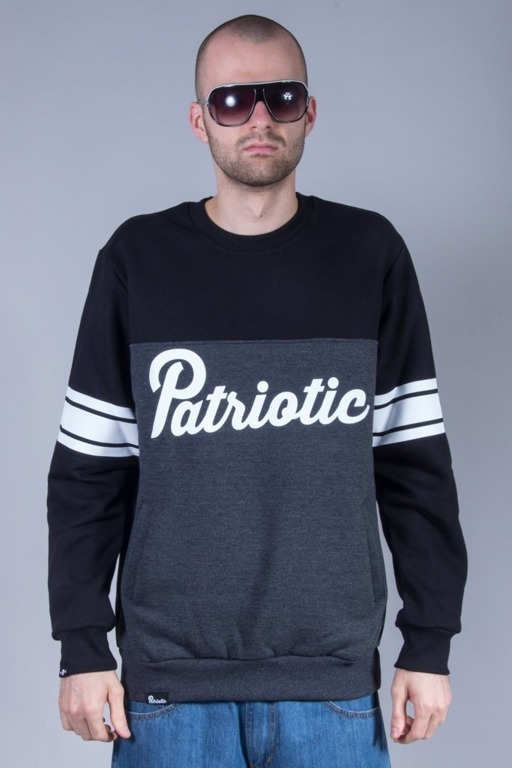 PATRIOTIC CREWNECK SHOULDER BLACK-GREY