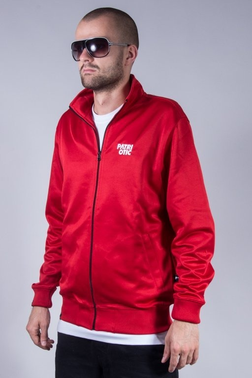 PATRIOTIC CREWNECK ZIP CLS POLI RED
