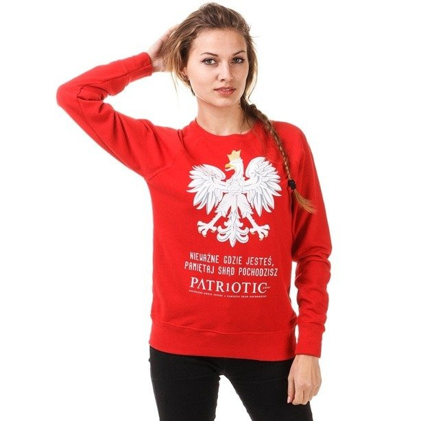 PATRIOTIC GIRL BLUZA BEZ KAPTURA GODŁO RED