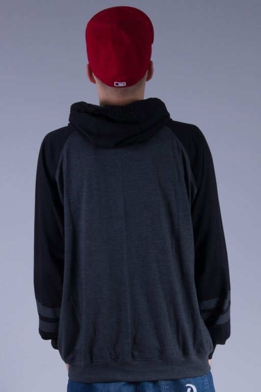 PATRIOTIC LONGSLEEVE Z KAPTUREM PARTICLES GREY-BLACK