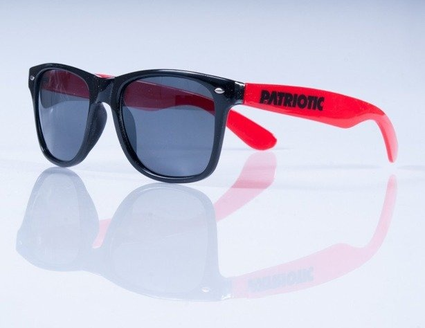 PATRIOTIC OKULARY BLACK-RED