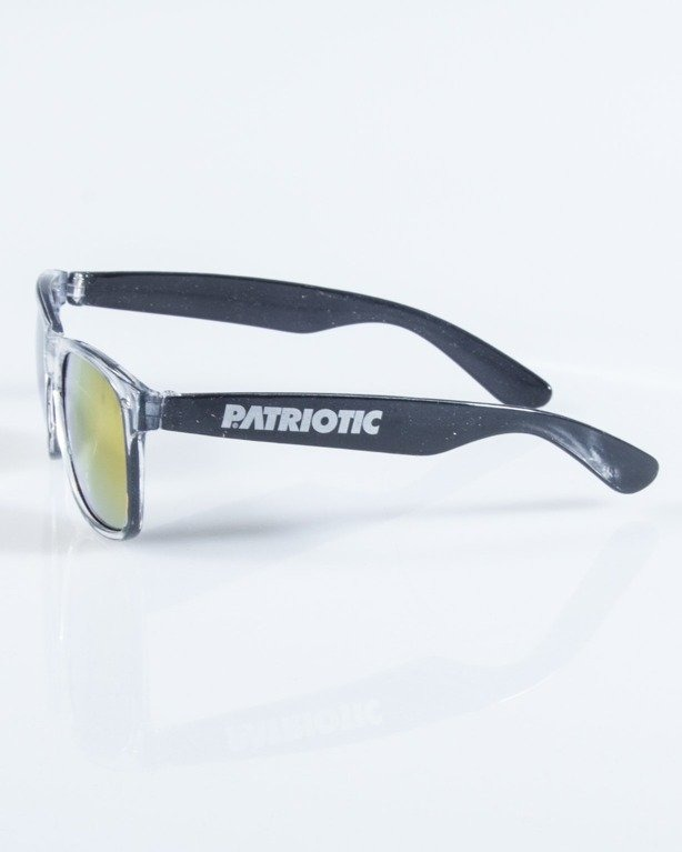 PATRIOTIC OKULARY CLEAR-BLACK PINK MIRROR