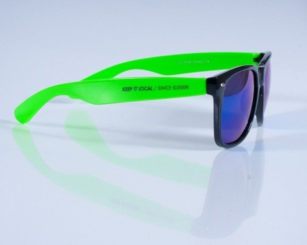PATRIOTIC OKULARY FUTURA GREEN-BLACK COL