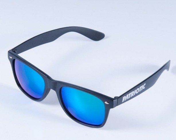 PATRIOTIC OKULARY MAT BLACK COL BLUE
