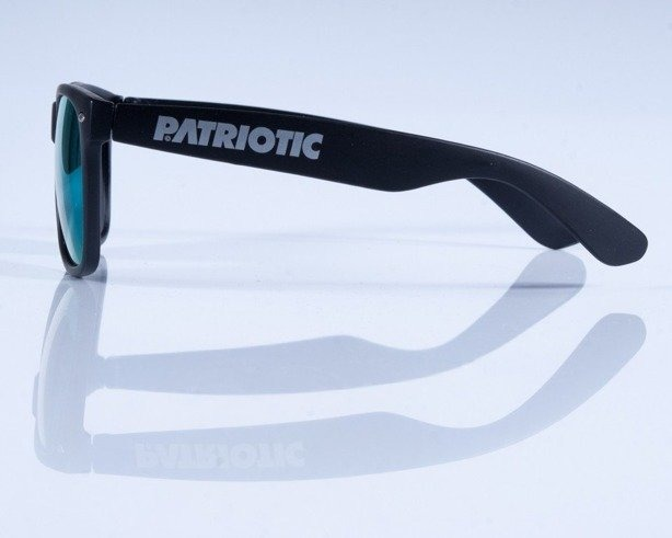 PATRIOTIC OKULARY MAT BLACK COL GREEN