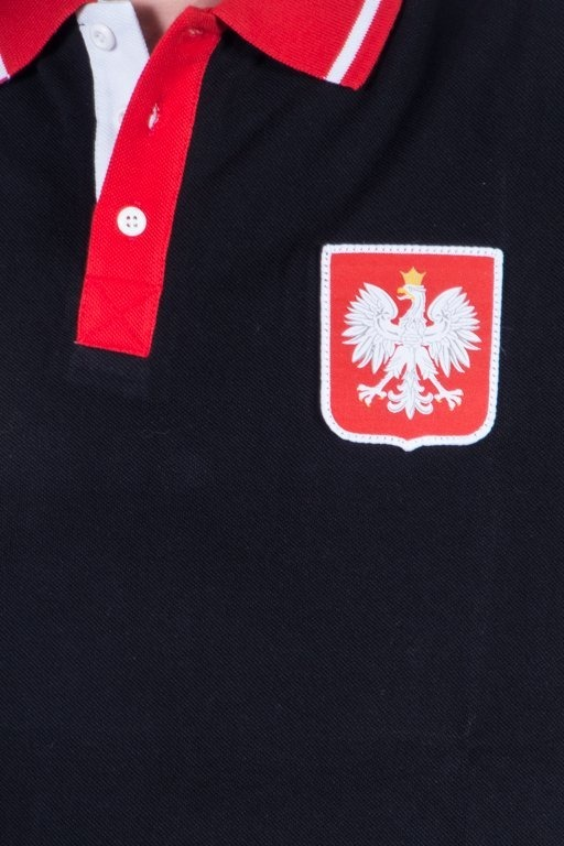 PATRIOTIC POLO GODŁO TAG BLACK