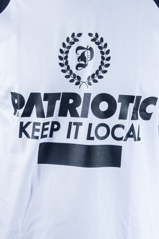 PATRIOTIC T--SHIRT LAUR WHITE-BLACK