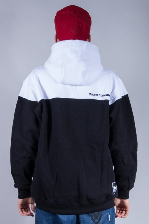 PROROK 56 BLUZA Z KAPTUREM SMALL P56 WHITE-BLACK