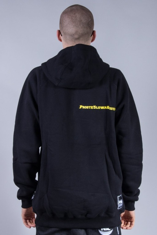 PROROK 56 ZIP HOODIE P56 SMALL BLACK-YELLOW