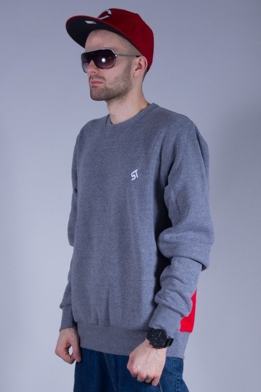 PROSTO BLUZA BEZ KAPTURA BASIC BACKLIP GREY