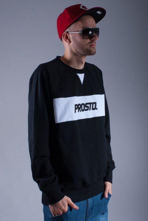 PROSTO BLUZA BEZ KAPTURA BOX BLACK