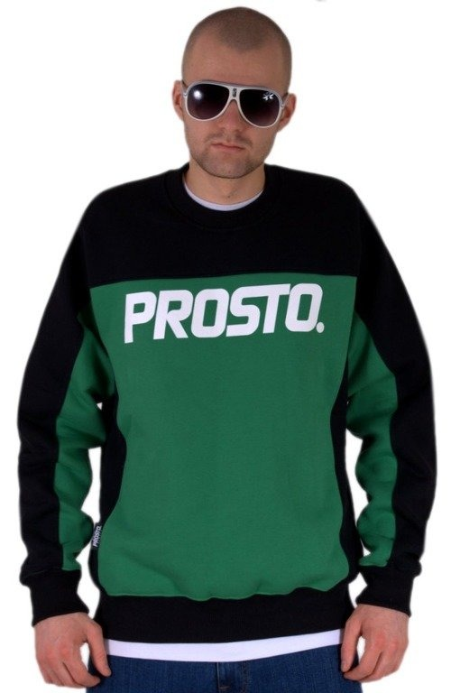 PROSTO BLUZA BEZ KAPTURA CUSTOM GREEN