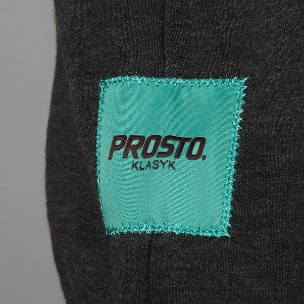 PROSTO BLUZA BEZ KAPTURA LAYER DARK GREY