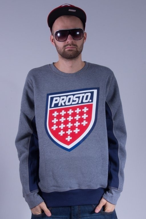 PROSTO BLUZA BEZ KAPTURA SHIELD GREY