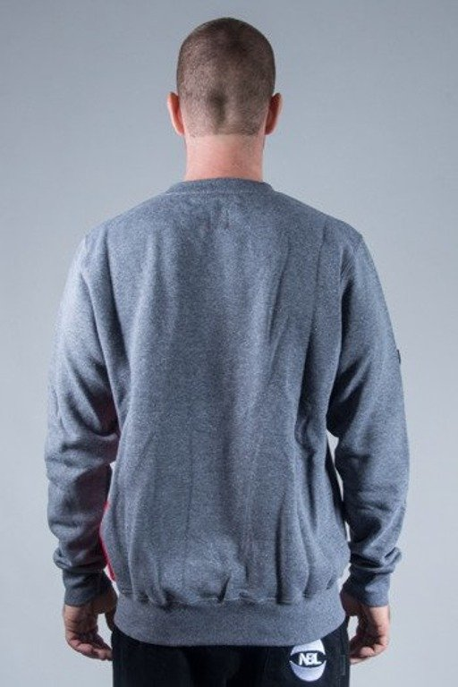 PROSTO BLUZA BEZ KAPTURA SIDE P GREY