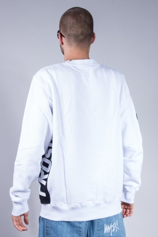 PROSTO BLUZA BEZ KAPTURA SIDE P WHITE