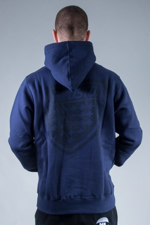 PROSTO BLUZA Z KAPTUREM BACK SHIELD NAVY