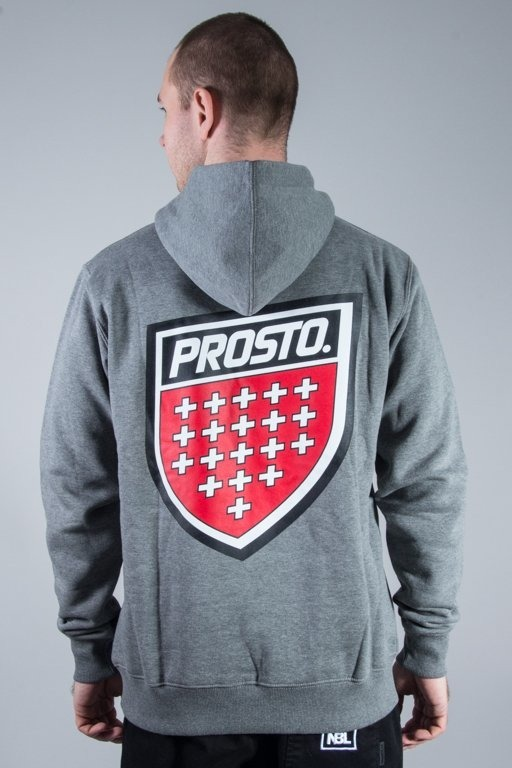 PROSTO BLUZA Z KAPTUREM BACKUP GREY