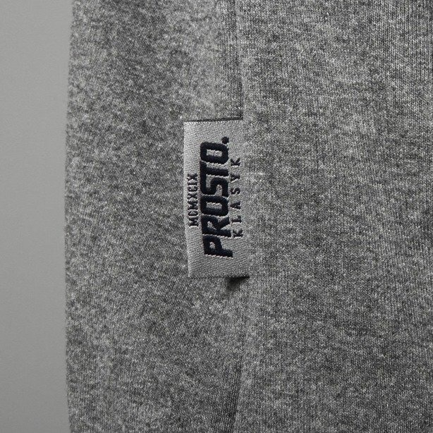 PROSTO BLUZA Z KAPTUREM ZIP FIND OUT GREY