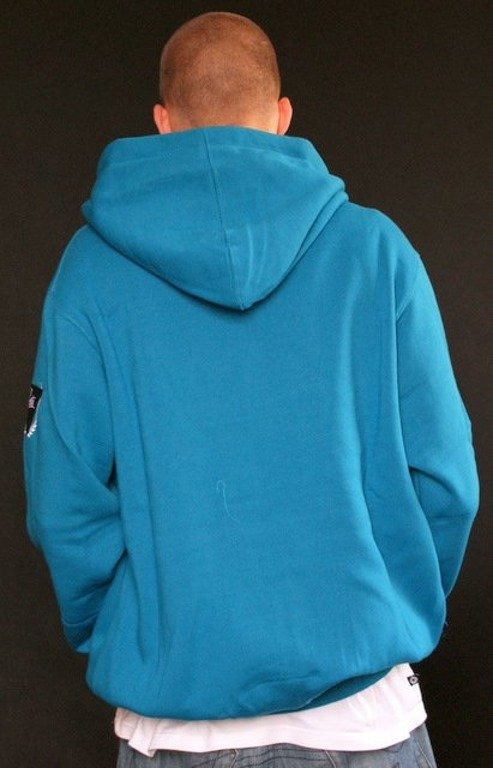 PROSTO BLUZA Z KAPTUREM ZIP HOODY SHIFTY BLUE