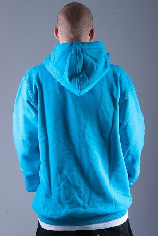 PROSTO BLUZA Z KAPTUREM ZIP LAYER BLUE
