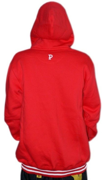PROSTO BLUZA Z KAPTUREM ZIP PRIMARY RED