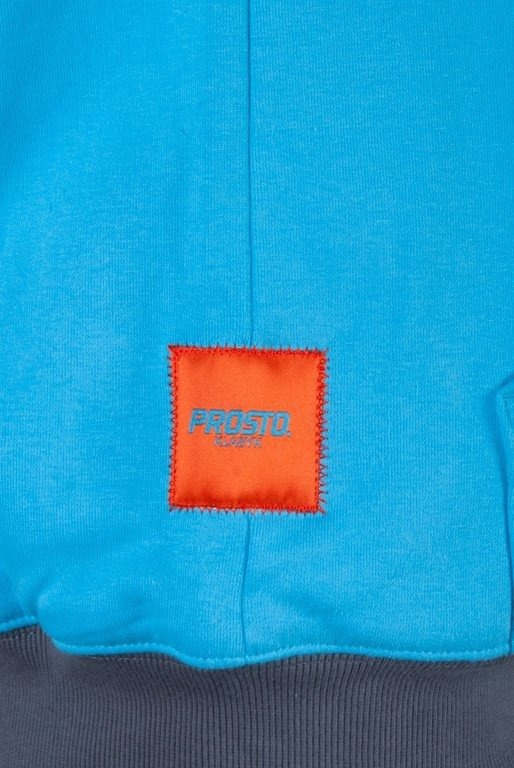 PROSTO BLUZA Z KAPTUREM ZIP REMOVED BLUE