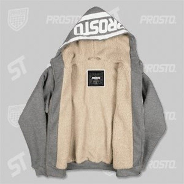 PROSTO BLUZA ZIP HOODY HEAD GREY