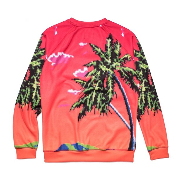 PROSTO CREWNECK WOMAN WAVE RED